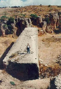 Greatest stone in Baalbek, 1200 tons