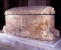 Sarcophagus of King Ahiram, Byblos 1000 BC (Beirut museum collection)