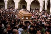 President elect Bashir Gmayel funeral, 1982