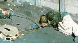 executed Lebanese troops, Syrian attack 1990