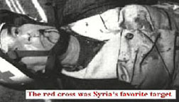 Red Cross victims, Syrian attack 1990