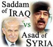 Saddam of Iraq vs Asad of Syria